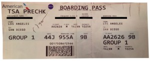 TSA PreCheck on American Airlines boarding pass