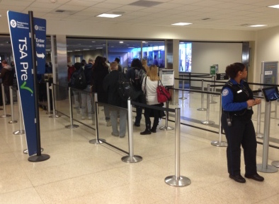 TSA PreCheck lanes at San Diego airport with Global Entry membership