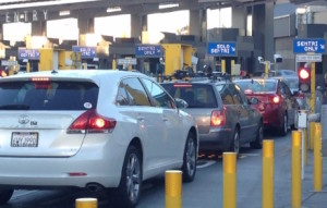 SENTRI Lanes returning to the U.S. at the San Ysidro border crossing in San Diego