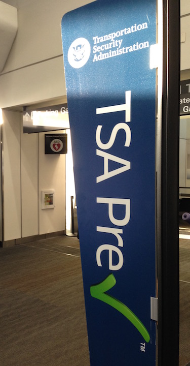 TSA PreCheck Sign at airport
