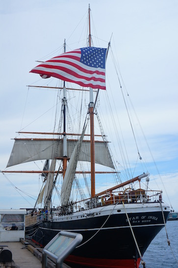 Tall Ship Star of India San Diego during Comic Con
