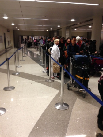Global Entry Customs Line LAX