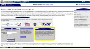 GOES Global Entry, SENTRI Pass or NEXUS card activation